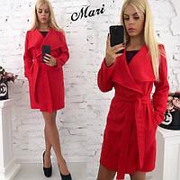 Женское легкое пальто из кашемира в расцветках. К-10-0818