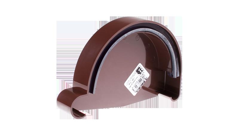 Заглушка ринви ліва Profil  90 коричнева