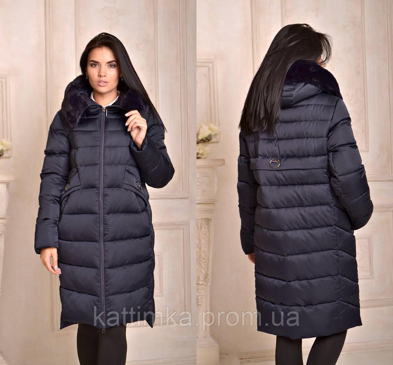 da912270c99 Женская зимняя куртка длинная с мехом на капюшоне - купить по лучшей ...