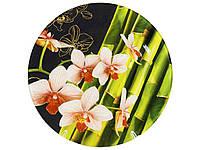 Блюдо скл. d.30 Орхідея рожева М 120 ТМLUMINES