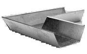 Поворот желоба 310х310 мм для трапец.