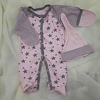 Человечек для новорожденных + шапочка , фото 1