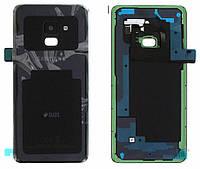 Задняя крышка Samsung Galaxy A8 2018 A530F Оригинал Черный со стеклом камеры