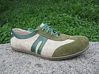 Обувь из конопли  «Фокус зеленый»