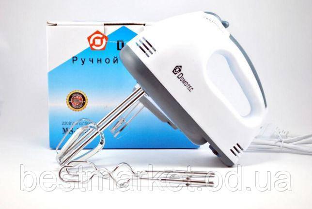 Ручной миксер - Domotec MS-1333 180W (насадки для взбивания