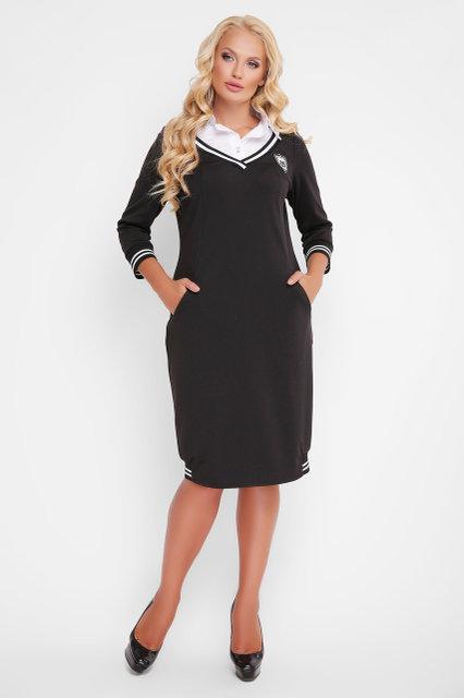 Платье Экко 52-58 черный
