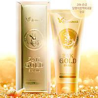 Очищающая пенка с муцином улитки и 24К золотом Elizavecca 24K Gold Snail Cleansing Foam, 180ml