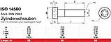 ISO 14580 (DIN 7984) : нержавеющий винт с низкой цилиндрической головкой, TORX, фото 2