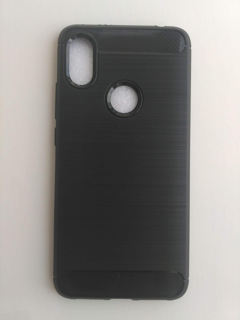 Силиконовый чехол Carbon Xiaomi Redmi S2 черный