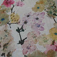 Тюль лен Акварели весна, фото 1