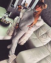 Костюм теплый вязаный штаны и кофта под горло, фото 2