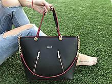 Ультрамодная женская сумка с логотипом с замочками, фото 2