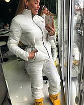 Стильный женский лыжный костюм с поясной сумкой, фото 2