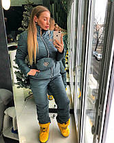 Стильный женский лыжный костюм с поясной сумкой, фото 3