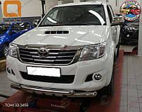 Защита переднего бампера Toyota Hilux (2012-2015) (Shark)
