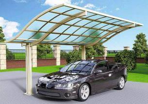 Автомобильный навес из алюминия с монолитным поликарбонатом Oscar CarPort  S01-5628