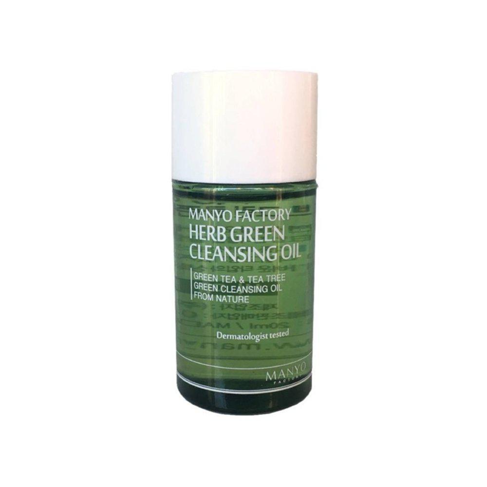 Manyo Factory Herb Green Cleansing Oil mini Гидрофильное масло с экстрактами трав, 20 мл