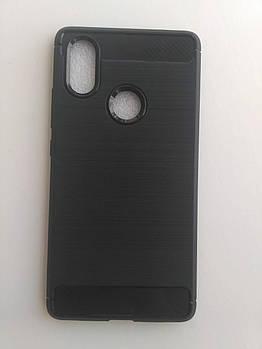 Силиконовый чехол Carbon Xiaomi MI 8 SE черный