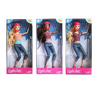 Кукла Defa шарнирная, 29см, скейт, шлем, 2 цвета, в кор. 15*32,5*5см., (48шт) (8375)