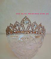 Корона под золото, диадема, тиара, высота 4 см., фото 1