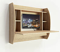 Навесной компьютерный стол ZEUS AirTable™ Drop (санома), фото 1