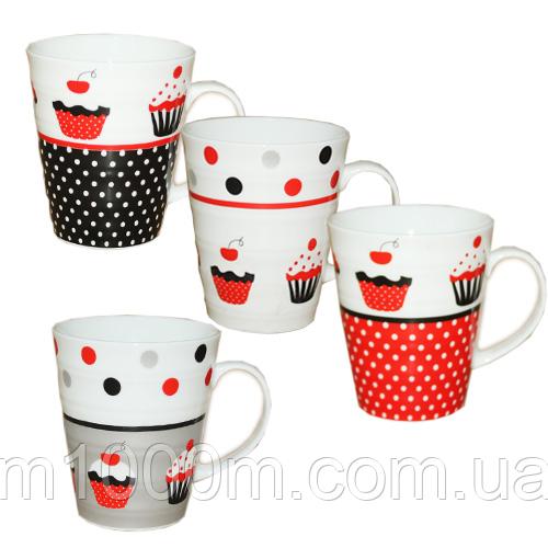 Чашка фарфоровая Пирожное 350мл, 040-01-12