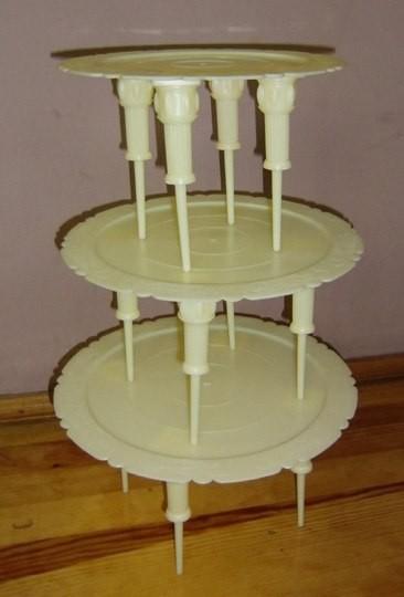 """Стойка для торта """"слоновая кость""""3 яруса(код 00266)"""