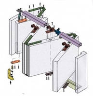 Koblenz Art.0720/60 для складывающихся дверей из нескольких створок (по типу гармошки)