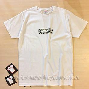 Мужская белая футболка Supreme Camo унисекс Реплика, фото 2