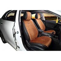 НАКИДКИ НА СИДЕНИЯ Audi A6 (C6) 2004-2011 ВЕЛЮР С ЭКОКОЖЕЙ - PREMIUM - КОРИЧНЕВЫЕ