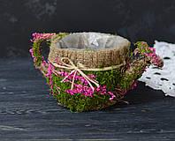 Кашпо-лейка з сухоцветом