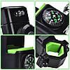 Велодержатель для телефона, смартфона Q003+2Led, компас, фото 7