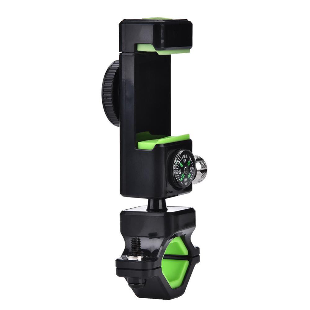 Велодержатель для телефона, смартфона Q003+2Led, компас