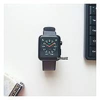 Смарт часы IWO5 корпус black matte ремешок нейлоновый черный/серый (Apple Watch)