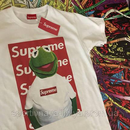 Мужская белая футболка Supreme Frog унисекс Реплика, фото 2