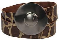 Женский ремень с закрытой пряжкой, Vanzetti, Германия, 100017 коричневый, 4х106 см