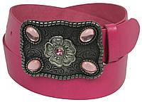 Женский кожаный ремень Vanzetti, Германия, 100048 розовый, 4х102 см
