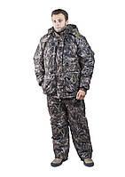 Зимний Костюм для рыбалки и охоты  камуфляж темный камыш     ,алова