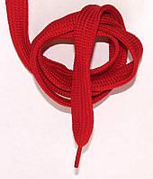 Шнурки плоские широкие 20мм Темно красный 120см синтетика