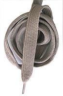 Шнурки плоские широкие 20мм Серый 120см синтетика