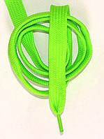 Шнурки плоские широкие 20мм Салатовый 120см синтетика