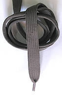 Шнурки плоские широкие 20мм Темно серый 120см синтетика