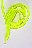 Шнурки плоскі широкі 20мм Лимон 120см синтетика