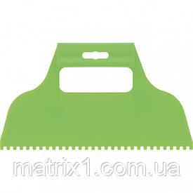 Шпатель для клею, пластмасовий, зубчастий 4х4 мм СИБРТЕХ