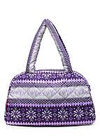 Дутая сумка Скандинавия фиолетовая Рoolparty