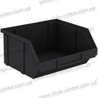 Ящик пластиковый, черный, 90х100х50мм