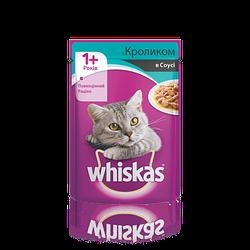 Вологий корм для кішок WHISKAS (Віскас ) з кроликом в соусі 100 гр, пауч.