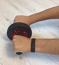 Ролик для пресса, колесо для пресса, металический ролик на подшипнике, роллер, гимнастический ролик для пресса, фото 3