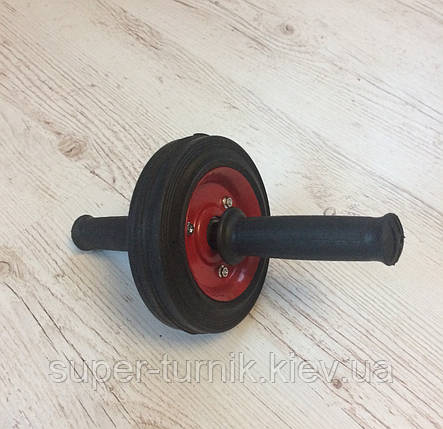 Одинарный ролик для пресса, колесо для пресса, гимнастический ролик для пресса, фото 2