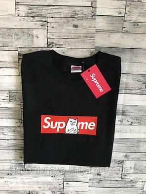 Мужская черная футболка Supreme унисекс Реплика, фото 2
